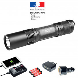 Pack lampe tactique rechargeable XT2C LED - 1100 Lumens avec ses accessoires