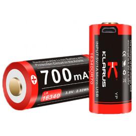 Batterie rechargeable prise micro USB pour lampe Mi1C/XT1A/XT1C